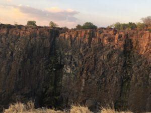 Viktoriini vodopady v obdobi sucha